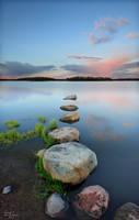 Stone path by Pajunen