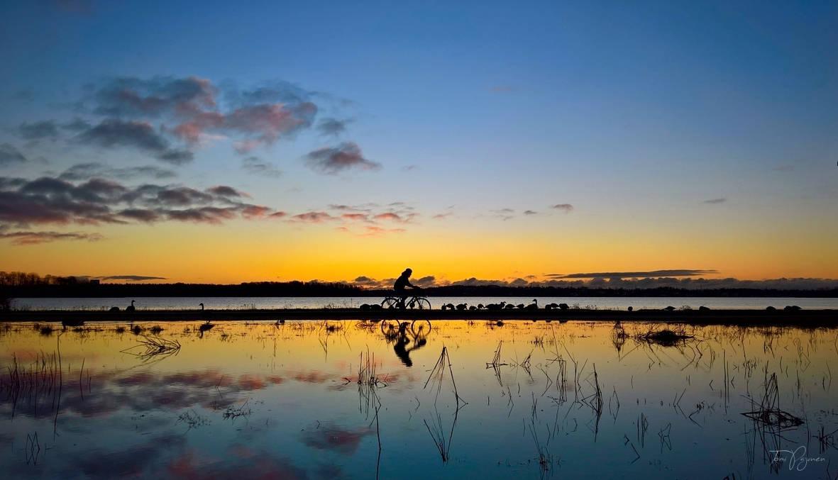 Sunrise Cyclist