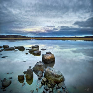 Stones by the seabay