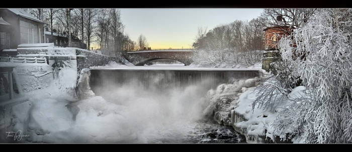 Old Town Dam in January