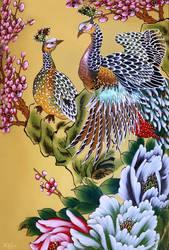 Chinese vase detail