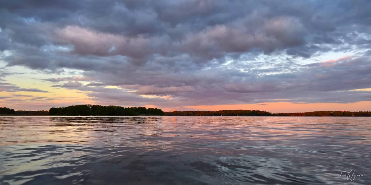 Sunset seashore