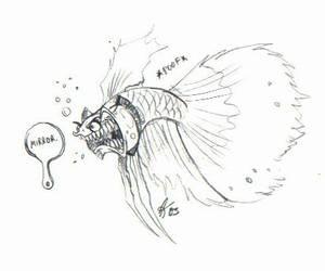 Cartoon - Betta by psycrowe