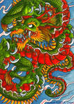 ATC ACEO - Chinese Dragon