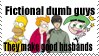 STAMP: Fictional Dumb Guys by CJCroen