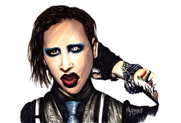 Marilyn Manson WIP by Mythokell