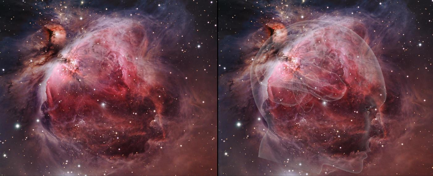 orion nebula and human brain-#2