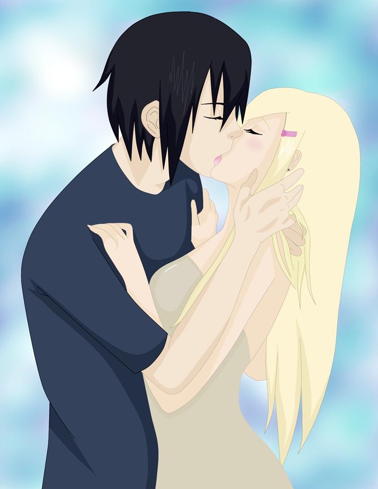 SasuIno_tender_kiss by Diane-sama