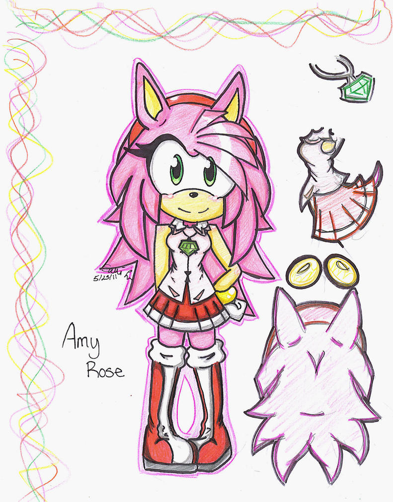 Older amy rose by silentrain12 on deviantart