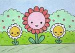 Cute flower ACEO #2