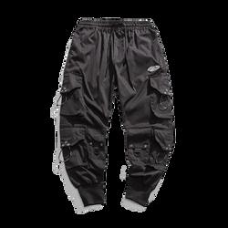 Nihonjin Streetwear- Black Cargo-style Pants