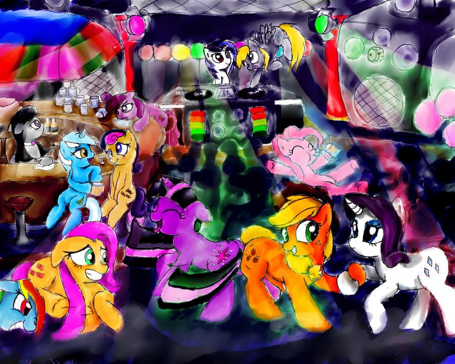 Request: Pony Rave by AquaticSun