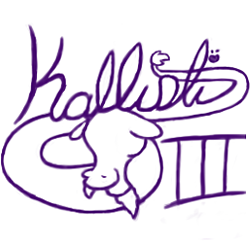 Kallisti III Logo(lineart) by AquaticSun