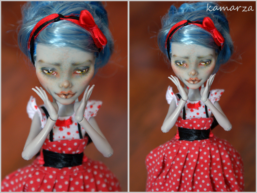 Clothilde OOAK doll Repaint by kamarza