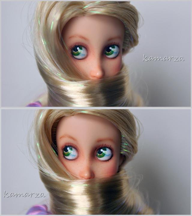 Rapunzel doll OOAK repaint 2 by kamarza