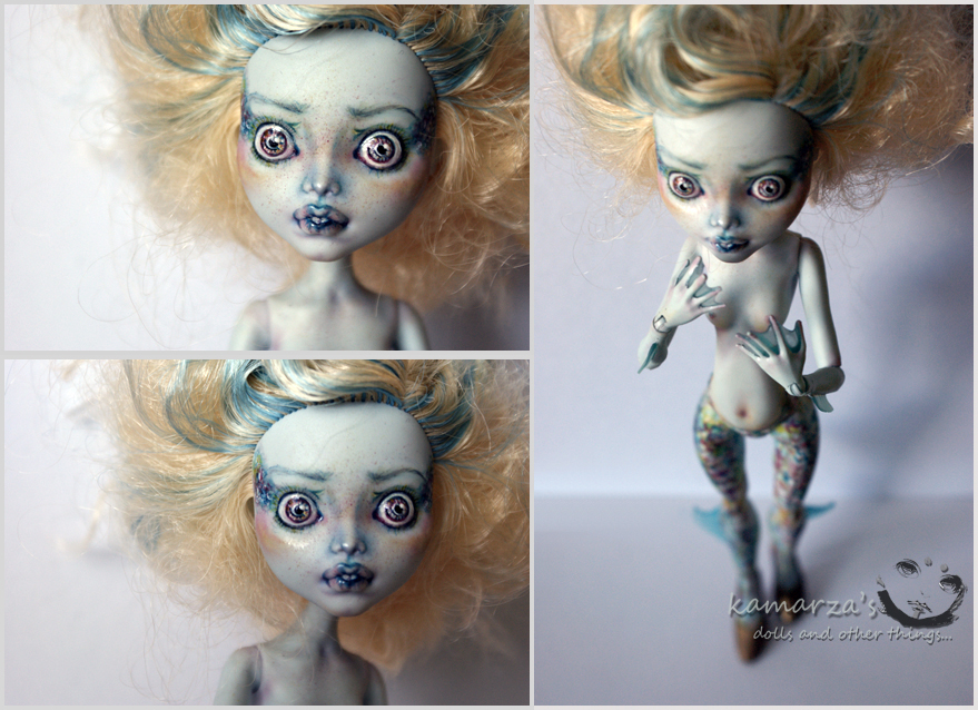 MH Lagoon OOAK Doll Repaint 2 by kamarza