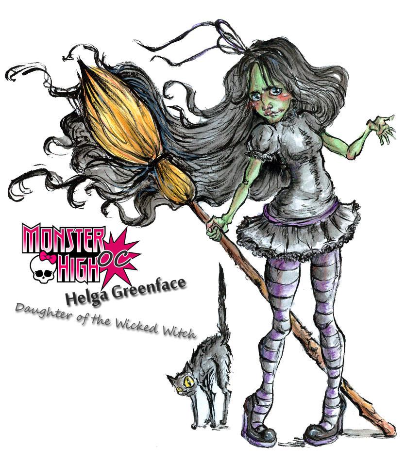 MH OC Helga Greenface by kamarza