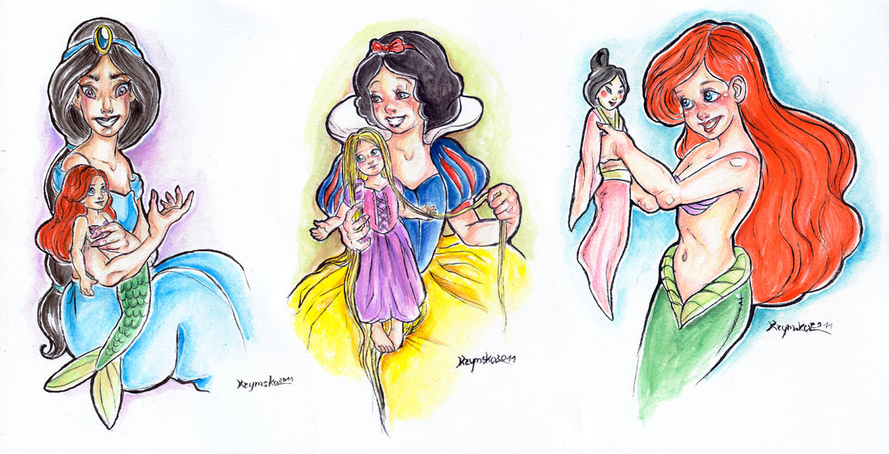 I love Disney I love Dolls 1 by kamarza