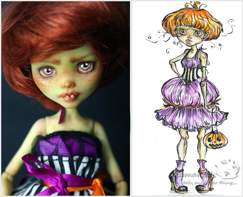 Mary Pumpkin - MH OC Custom by kamarza