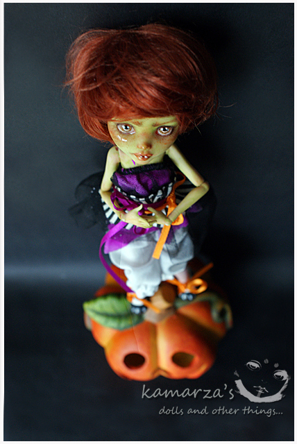 Mary Pumpkin Custom Doll 2 by kamarza