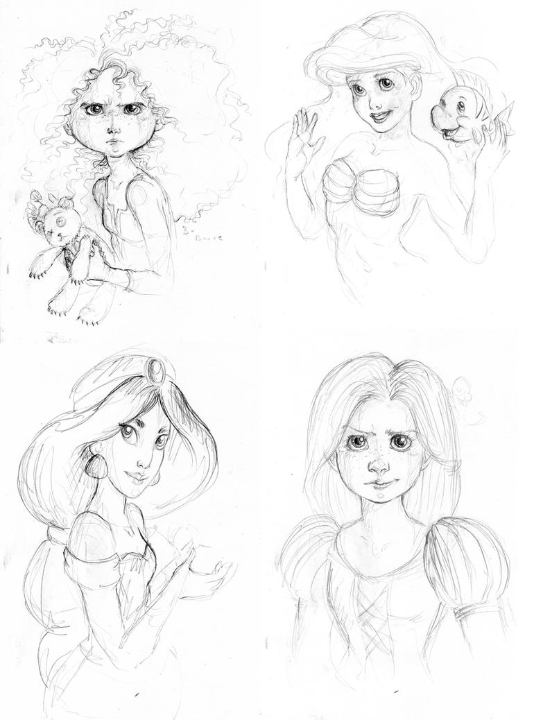 Disney Princess doodle by kamarza