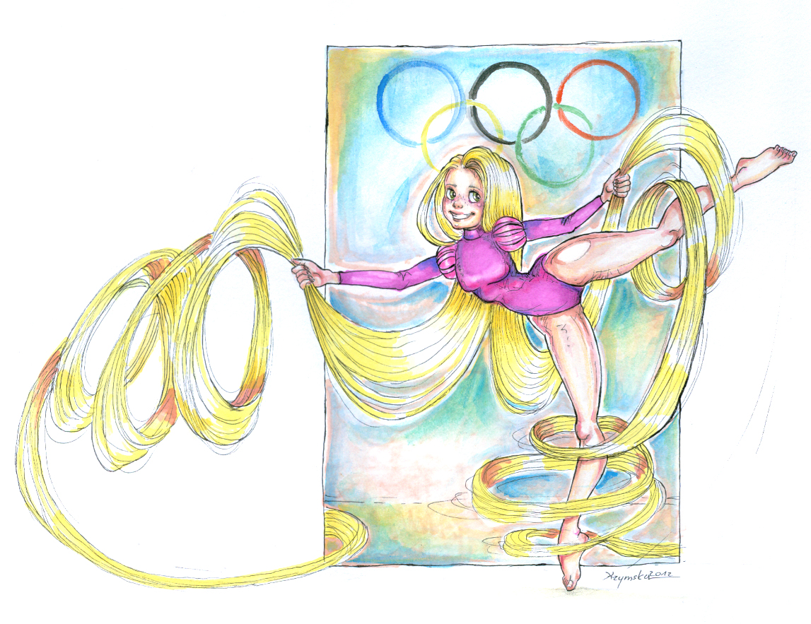 Rapunzel's Olympic Contest by kamarza