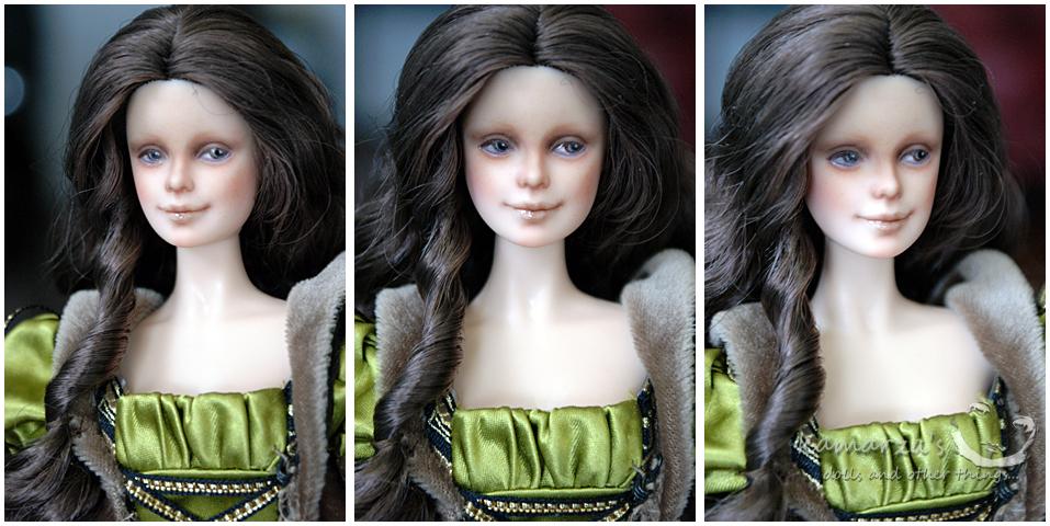 Leonardo da Vinci Barbie doll repaint by kamarza