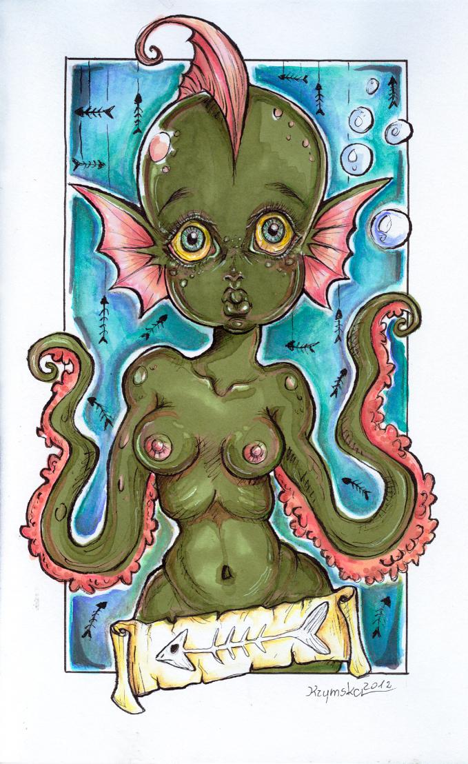 I Am A Sea Monster by kamarza