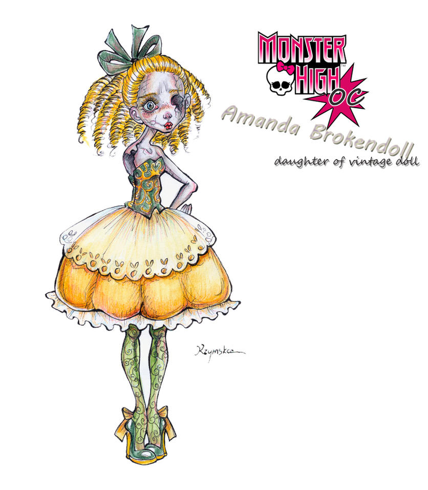 MH OC Amanda Brokendoll by kamarza