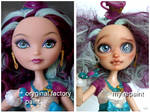 Maddie Hatter EAH repaint before and after