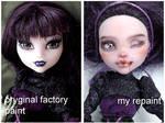 Monster High Elisabat before and after