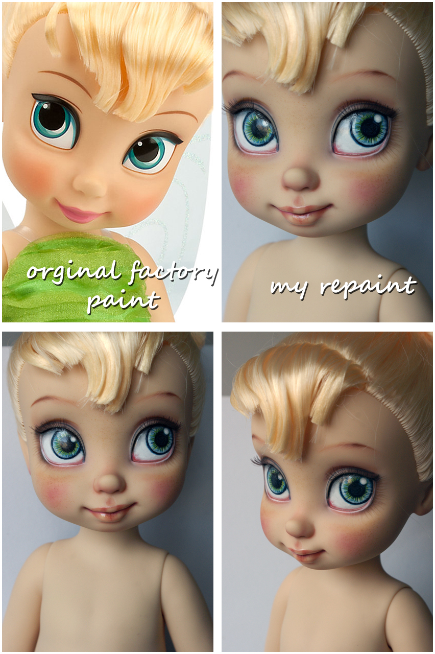 Disney Animators Collection Tinkerbelle repaint by kamarza