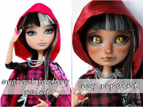EAH cerise hood before and after
