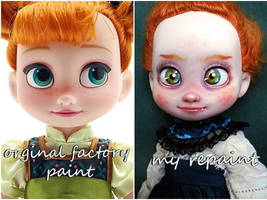 Disney Animators Anna before and after