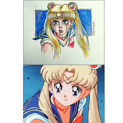 redraw sailor moon challange 1