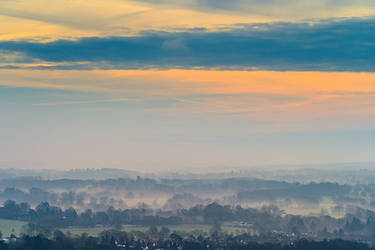 Morning mist in Box Hill, UK II by Mentos18