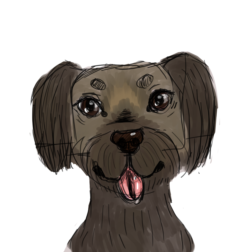 Dog Sketch Painting By Korenmoonbear On Deviantart