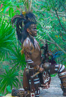Original Mayan Art of Mayan King Double Comb by rico2012