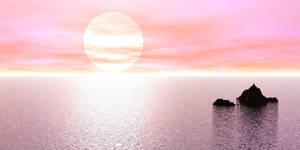 Water13 - Sunset on ocean