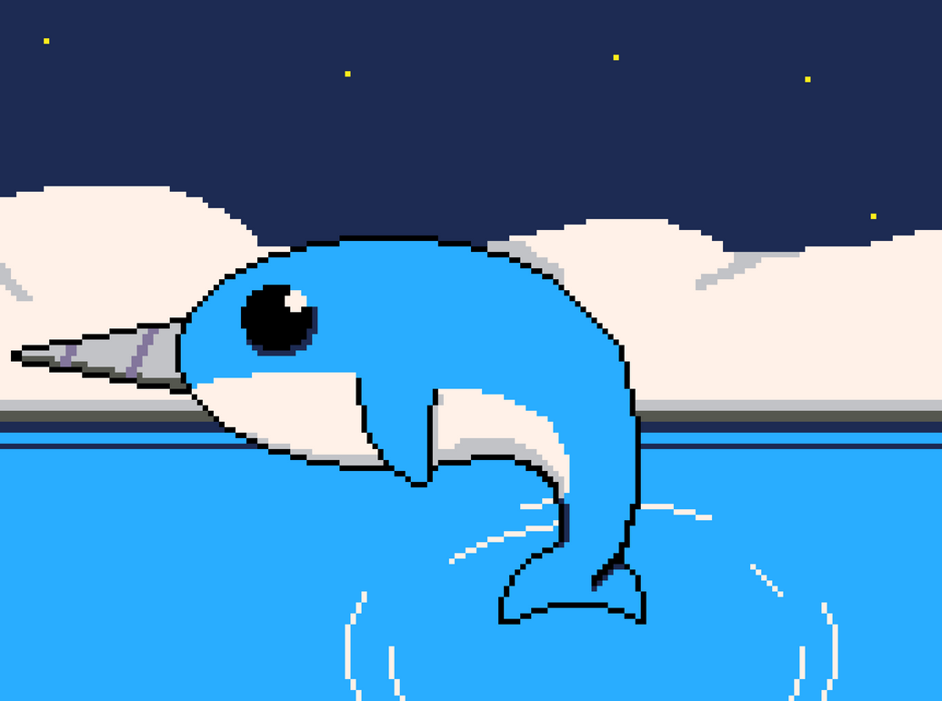 Narwhal - Pixel Art by N3VYCK