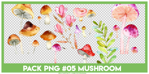 [PNG] #05. PACK PNG mushroom by pinkeuuu