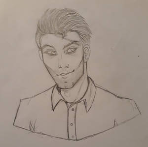 A genuine smile for once (Hospital sketch #3)