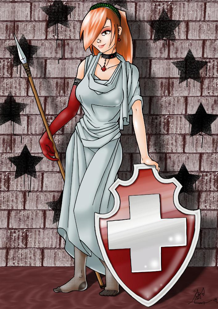 Art Foyer Helvetia : Dame helvetia by ccdck on deviantart