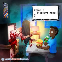 Fear CSS Pun - Weekly programming webcomic