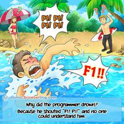 Drowning Coder - Weekly programming webcomic