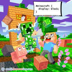 Minecraft - Weekly programming webcomic