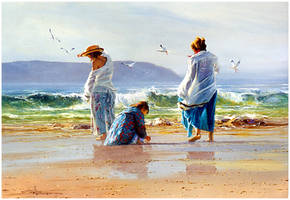'Breezy Days' Oil on Canvas - Robert Hagan by robert-hagan