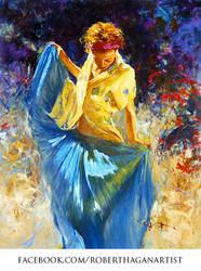 'Soft Thoughts' Oil on Canvas - By Robert Hagan by robert-hagan