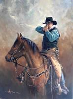 'Shooter' by Robert Hagan - Oil on Canvas by robert-hagan