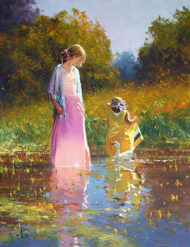 'Tranquil Moment' Oil on Canvas By Robert Hagan